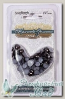 Жемчужные сердечки (коричнево-золотые) 60 шт SCB0717418