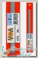 Чулочные спицы Visantia VT5 d=2 мм 20 см