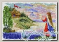 Канва с нанесенным рисунком *Весточка*, Матренин Посад 1629