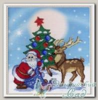 М.П.Студия Набор для вышивания РК-313 *Дед Мороз*