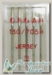 Иглы ORGAN для бытовых швейных машин - для джерси № 70, 5 шт