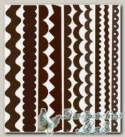 Набор бумажных лент Just the Edge 1, Bazzill Basics, 20 шт (302744 коричневый)