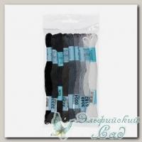 Набор мулине для вышивки Gamma хлопковое 9х8 м (серый)