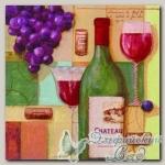 Салфетка для декупажа трехслойная *Вино из Сент-Эмиллиона* 33 х 33 см 1 шт