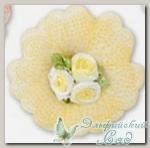 Декоративные элементы *Цветок* (желтый) FL064 5 шт