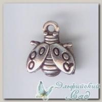 Подвески металлические *Божья коровка 4* (античное серебро) CN-2100230 1 шт