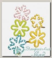 Клипсы *Цветы* (разноцветные) 7858149 Rayher, d=20-25 мм, 24 шт