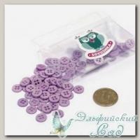 Пуговицы декоративные для скрапбукинга *Мини* (цвет - фиолетовый) 80 шт КЛ21634