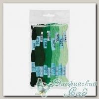 Набор мулине для вышивки Gamma хлопковое 9х8 м (зеленый)