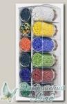 Набор бисера для рукоделия Златка (Zlatka) SGB (№4 ассорти - матовый, крашенный, бензиновый)
