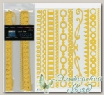 Набор бумажных лент Just the Edge 3, Bazzill Basics, 20 шт (303209 лимонный)