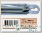 Спицы прямые для вязания Гамма (Gamma) KN2H d=5 мм 35 см
