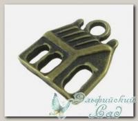 Подвески металлические *Домик 1* (античная бронза) CN-2100181 1 шт
