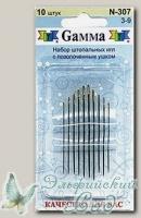 Иглы швейные для штопки №3-9 Gамма N-307, 10 шт