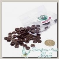 Пуговицы декоративные для скрапбукинга *Мини* (цвет - коричневый) 80 шт КЛ21642