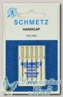 Иглы для бытовых швейных машин легковдеваемые Schmetz № 80, 5 шт