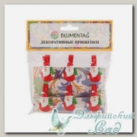 Декоративные прищепки *Blumentag* WCRH-35 (N104 Дед Мороз) 6 шт