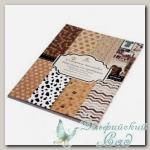 Набор бумаги для скрапбукинга PB1404 *Сахарная косточка* 45x30,4 см 24 листа