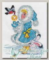КЛАРТ Набор для вышивания 8-178 *Снегурочка и снегирь*
