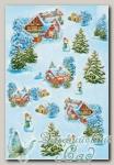 Рисовая бумага для декупажа KPR Love2Art (0001 Новогодняя сказка) 32х22 см, 1 шт