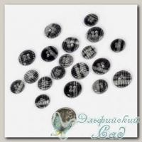 Пуговицы декоративные *Шотланка* (цвет - серый) 40 шт JB C16 20L-24L