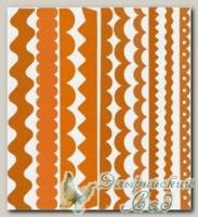 Набор бумажных лент Just the Edge 1, Bazzill Basics, 20 шт (302738 рыжий)
