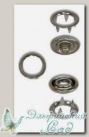 Кнопки рубашечные металлические (под никель) 9 мм 10 комплектов