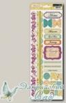 Набор аппликаций самоклеющихся Fabrications Canvas, Teresa Collins FAB111