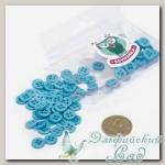Пуговицы декоративные для скрапбукинга *Мини* (цвет - бирюзовый) 80 шт КЛ21639