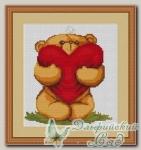 Luca-S Набор для вышивания B170 *Плюшевый мишка с сердечком*