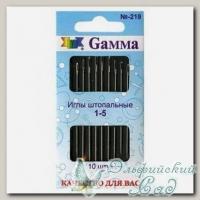 Иглы швейные ручные для штопки №1-5 Gамма N-219, 10 шт