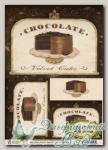 Декупажная карта *Шоколадный торт* S-046 VINTAGE DESIGN, 1 лист А4
