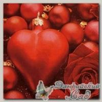 Салфетка для декупажа трехслойная *Игрушка в виде сердца* 33 х 33 см 1 шт