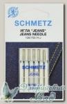 Иглы для бытовых швейных машин для джинсы Schmetz № 90, 5 шт