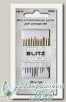 Иглы для шитья ручные с позолоченным ушком, острые BLITZ HN-32 300B2, 20 шт