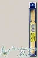 Чулочные спицы Гамма (Gamma) BC2 бамбуковые d=4 мм 20 см