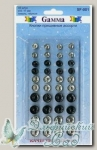 Кнопки пришивные Gamma SF-001 (ассорти) d=7-12 мм 40 шт