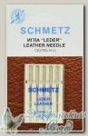 Иглы для бытовых швейных машин для кожи Schmetz № 70, 5 шт
