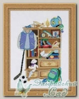 RIOLIS Набор для вышивания 1372 *Шкафчик для мальчика*