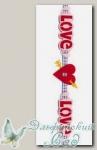 Лента из фетра Annet JFL-01 (L001 LOVE) 30 см