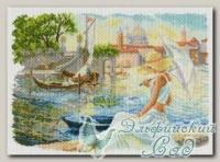 Канва с нанесенным рисунком *Отдых на набережной*, Матренин Посад 1577