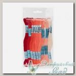 Набор мулине для вышивки Gamma хлопковое 9х8 м (коралловый)