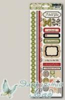 Набор аппликаций самоклеющихся Fabrications Linen, Teresa Collins FAB151
