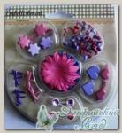 Набор брадсов с цветами для скрапбукинга XHEM007
