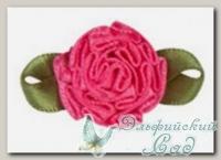 Декоративные элементы *Цветок* (темно-розовый) FL073 5 шт
