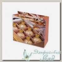 NGBS Подарочный пакет *Бежевые шарики* Stilerra 23x18x10 см
