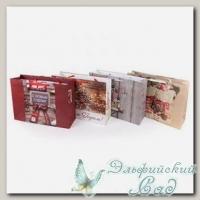 NGRM Подарочный пакет *С Новым Годом* Stilerra 31x26x12 см (бордовый)