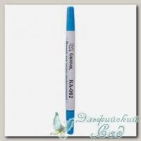 Маркер для ткани двусторонний смываемый водой (голубой) Gamma RA-002
