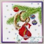 01.033.15 Набор для вышивания *Новогодняя гирлянда*, серия *Новогодние*, Машенька