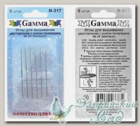 Иглы для вышивания двусторонние №24 Gамма N-317 6 шт